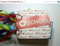 CIJ I Love School Mini Scrapbook Album School by HampshireRose, $20.00