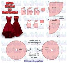 Sewing Dress Tutorial Tuto Jupe 50 Ideas For 2019 Barbie Clothes Patterns, Skirt Patterns Sewing, Sewing Patterns Free, Clothing Patterns, Kids Patterns, Free Pattern, Fashion Sewing, Diy Fashion, Easy Sew Dress