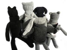 Peluches in lana #riciclata di #Lanaecodesign