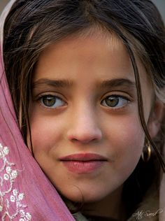 "Young girl, Northern Pakistan - image found via tumblr unknown photographer - collected by linenandlavender.net for ""To plant a garden is to believe in tomorrow."""