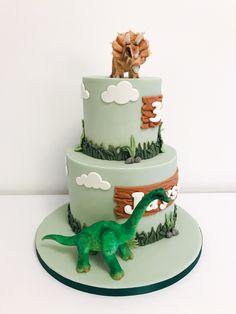 Dinosaur Birthday Cakes, Dinosaur Cake, Cake Toppings, 2nd Birthday Parties, Birthday Decorations, Fondant, Party, Desserts, Kids