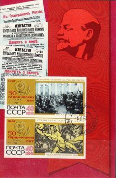 Russia - Lenin Souvenir Stamp Sheet, 1967.