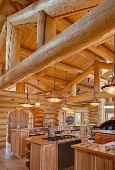 Log Home Decorating Vibrant to eye catching examples to produce a wicked log decor. log home decorating ideas interiors decor touch ref generated on 20190125 Log Cabin Living, Log Cabin Homes, Log Cabins, Log Home Kitchens, Log Home Decorating, Interior Decorating, Decorating Ideas, House Design Photos, Cabins And Cottages