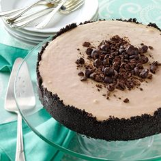 Frozen Mocha Torte Recipe -For an easy, make-ahead dessert that's elegant and luscious, try this recipe. The perfect blend of mocha and chocolate is in each cool, refreshing slice. —Lisa Kivirist, Browntown, Wisconsin