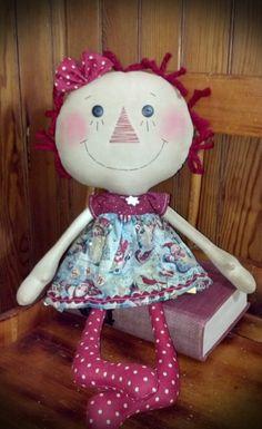Reduced Annie Loves Snowmen Primitive Rag doll
