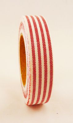 red stripe fabric tape - not a solid stripe