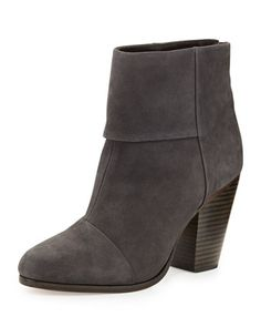 Newbury Nubuck Ankle Boot, Slate by Rag & Bone at Bergdorf Goodman.