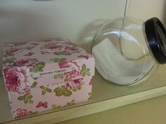 Storing detergent/dryer sheets. Well, duh- why didn't I think of that before? Love the glass jar.