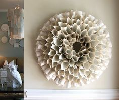 Wreath from book pages