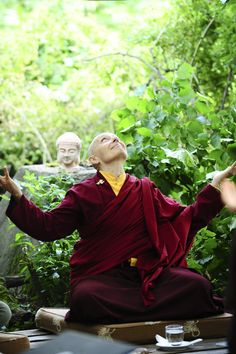"""Develop confidence in your innate qualities and believe that these qualities will be brought to fruition."" Jetsunma Tenzin Palmo"