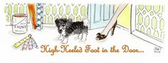 High-Heeled Foot in the Door