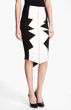 Kelly Wearstler 'Organto' Contrast Panel Knit Pencil Skirt | #Nordstrom #falltrends