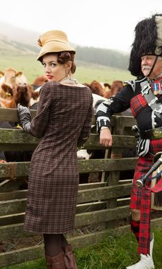 Classic Style: Tartans & Tweeds.  (A Cold-Stream Guard looks on!)