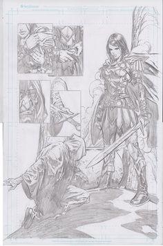 Wonder Woman #38 - Art by David Finch
