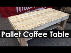 Pallet Coffee Table | Project Ideas - YouTube