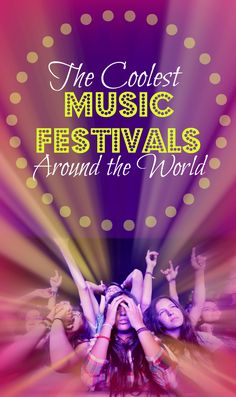 Travel Bloggers Pick The Coolest Music Festivals Around The World. _____________________ 1. GLASTONBURY, UK 2. AFRIKABURN, SOUTH AFRICA 3. TOMORROWLAND, BELGIUM 4. BURNING MAN, USA 5. SOUNDWAVE, AUSTRALIA 6. ROCK ON THE RANGE, OHIO, US 7. ENVISION MUSIC FESTIVAL, COSTA RICA 8. VIVE LATINO, MEXICO 9. COACHELLA, USA 10. FALLS FESTIVAL IN LORNE, AUSTRALIA 11. BOONSTOCK MUSIC FESTIVAL IN ALBERTA, CANADA 12. FEZ SUFI FESTIVAL, MOROCCO and more! ______________ -A World to Travel
