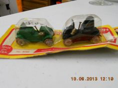 4 Metal Vintage Miniature Cars  6789 Barclay  USA Original Package