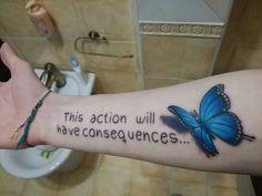 Life is strange. Butterfly effect Weird Tattoos, Life Tattoos, Body Art Tattoos, Sleeve Tattoos, Cool Tattoos, Tatoos, Awesome Tattoos, Tiki Tattoo, Life Is Strange 3