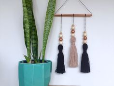 A personal favourite from my Etsy shop https://www.etsy.com/au/listing/244620592/copper-wall-hanging-with-tassels-boho
