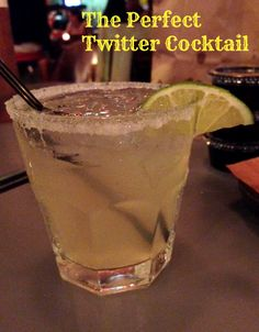 The Perfect Twitter Cocktail #twitter Small Business Marketing, Cocktails, Twitter, Tableware, Glass, Desserts, Food, Craft Cocktails, Tailgate Desserts