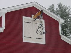 Barn Loft Lift | Horse drawn hay loader refurbished and Track system made for barn loft