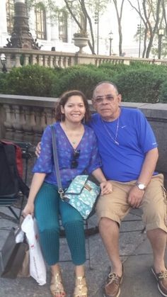 Paola and Mario by Bryant's Park. June 2015.