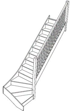 staircase with bottom stairs turned | Material Specification on these standard staircases is as follows.