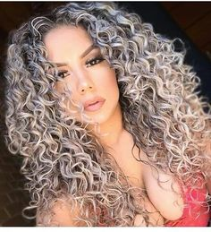Valentines' Day Synthetic Curly Lace Front Wigs for Women Party wig Medium length Popular Gray hair wig Heat resistant( Loose Curly Hair, Curly Hair Types, Big Hair, Deep Curly, Grey Curly Hair, Colored Curly Hair, Gray Hair, Curly Lace Front Wigs, Curly Wigs