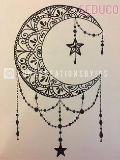 Original Luna handmade mandala black canvas on white 18 X . - Original Luna handmade mandala black canvas on white 18 X - Moon Tattoo Designs, Design Tattoo, Henna Tattoo Designs, Tattoo Ideas, Tattoo Drawings, Body Art Tattoos, New Tattoos, Tattoo Sketches, Moon Tattoos