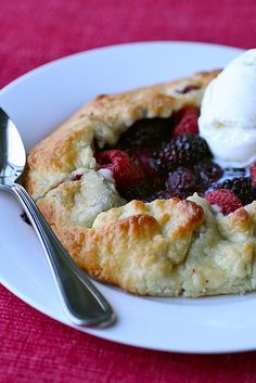 Berry Crostatas...My cousin made this for us and it was so yummy! I highly recommend Trader Joe's Vanilla Ice Cream over any others out there...its THE BEST!!