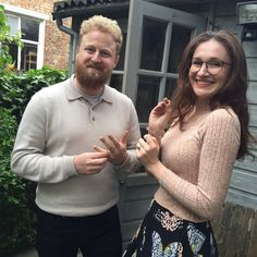 Make your own Wedding / Commitment rings with established jewellery designer Vicky Davies in her beautiful garden studio in Hackney. Commitment Rings, Beautiful Gardens, Make Your Own, Wedding Bands, Men Sweater, Couples, Happy, Fashion, Moda