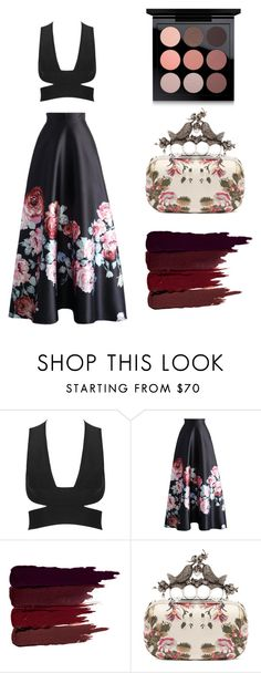 """Floral Perfection"" by britscarike on Polyvore featuring Chicwish, Serge Lutens, Alexander McQueen and MAC Cosmetics"