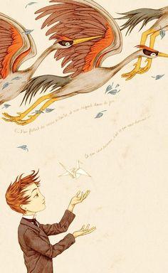 Un coeur généreux / A generous heart - A gallery-quality illustration art print by Agata KAWA for sale.