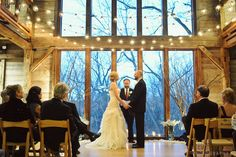 Indoor ceremony @ pat's barn