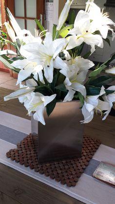 Centre piece - stainless steel pot planters