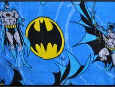 Fleece Batman Blanket with Satin Binding   Geek-a-bye Baby