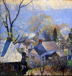 Impressionist Landscape, Impressionist Paintings, Landscape Art, Landscape Paintings, Michener Art Museum, American Impressionism, Teaching Art, Artist Art, American Artists