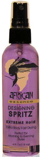 African Essence Spritz - Extreme Hold 4 oz. (Pack of 2) ** This is an Amazon Affiliate link. Click image to review more details.