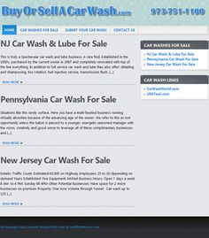 Website redesign for New Jersey car wash sales business. Project details at: http://sbmwebsitedesign.com/new-jersey-car-wash-sales