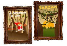 Carteles para publico infantil: La caputxeta i el llop y Tarzan el musical.