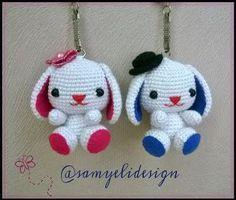 Samyelinin Örgüleri: Bunny Keychain Free Pattern / Tavşan Anahtarlık Ya...