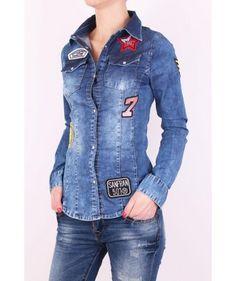 Trendy rifľová košeľa Denim, Jackets, Shirts, Fashion, Down Jackets, Moda, Fashion Styles, Dress Shirts, Fashion Illustrations
