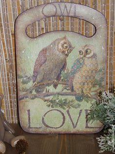 """Кухня ручной работы. Ярмарка Мастеров - ручная работа. Купить Доска разделочная """" Совиная любовь """". Handmade."""