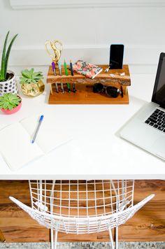 Make It: Modern Wooden DIY Desk Organizer