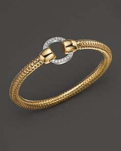 Roberto Coin 18K Yellow and White Gold Primavera Diamond Bracelet at London Jewelers!!