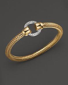 Roberto Coin 18K Yellow and White Gold Primavera Diamond Bracelet | Bloomingdale's