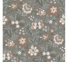 Grey and pink are a lovely pair in this painterly floral wallpaper. With a modern Jacobean edge, stunning blossoms curl about a rich taupe background. Athena is an unpasted, non woven wallpaper. Grey Floral Wallpaper, Brewster Wallpaper, Wallpaper Warehouse, Pink Blossom, Wallpaper Roll, Grey Walls, Designer Wallpaper, Home Depot, Green And Grey