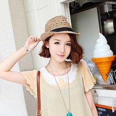 Дешевое 2015 женская соломенная шляпа фетровых белье шляпа британский стиль джаз любителей шляпа летом песок sunbonnet, Купить Качество Шляпы городские непосредственно из китайских фирмах-поставщиках: ДЕТАЛИ ПРОДУКТА