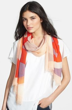 Create the look with the CAbi Everyday Scarf - price point is budget friendly! (pictured - Tory Burch 'Reva' Scarf available at #Nordstrom)  #CAbiclothing #PinAtoZ