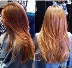 Градуированный каскад на длинные волосы фото, видео - Хотите длинные волосы?